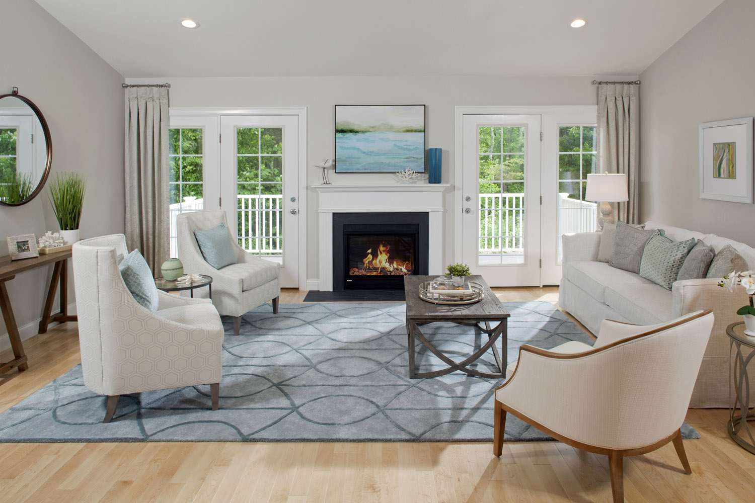 astounding model home living room | Sconset Landing – Above Expectations. All Within Reach.