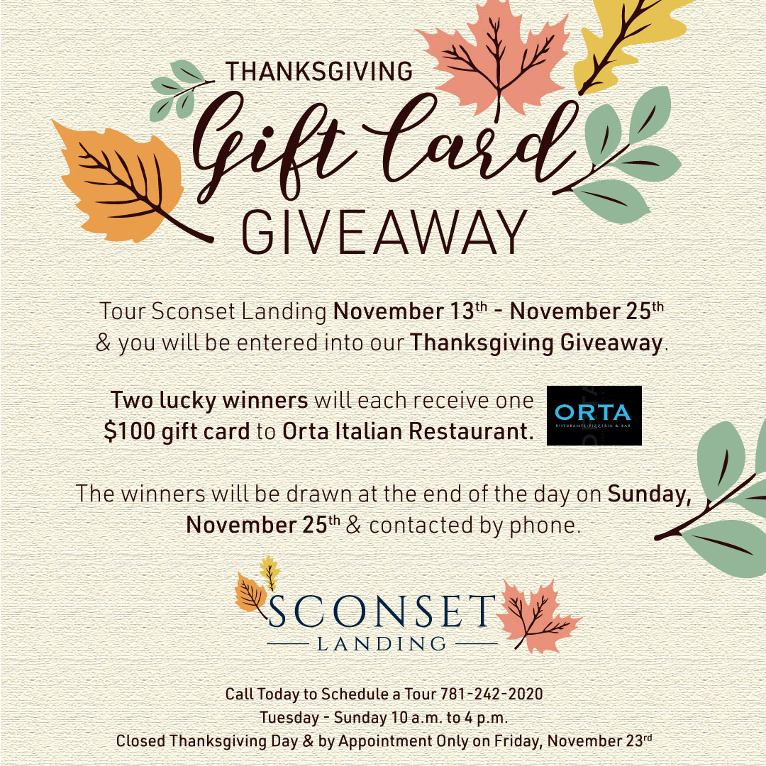 Thanksgiving Gift Card Giveaway